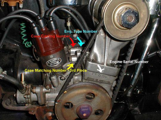 Porsche 356 engine number