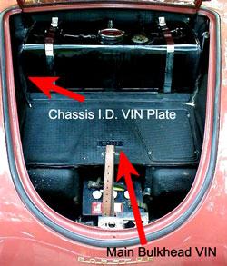 Porsche Convertible D Registry - VIN locations